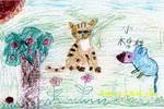 猫与鼠儿童画