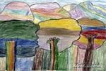 彩色世界儿童画2幅