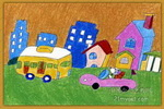 发球我的星球儿童画