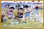 儿童画/我们的田野儿童画