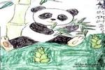 我爱吃竹叶儿童画作品欣赏