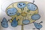 调皮的水珠儿童画
