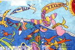 深海里的怪鱼儿童画3幅