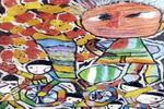 卖糖葫芦儿童画3幅
