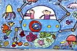 深海捕鱼油画棒儿童画