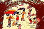 雨天儿童画2幅