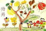 逛花园儿童画