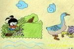 我是鸭司令儿童画