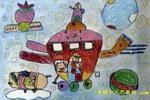 我也登上月球儿童画