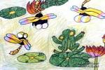 蜻蜓儿童画5幅