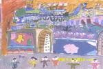 老台门前儿童画