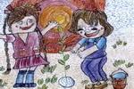 小苗儿童画图片