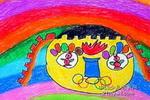 娃娃盼奥运儿童画图片