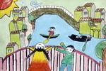 儿童画/河水变清了儿童画作品