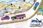 矿山――我的家乡儿童画作品欣赏