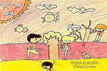 绿化儿童画作品欣赏