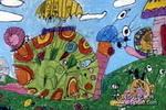 蜗牛旅行团儿童画图片