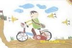 骑着马上学去儿童画