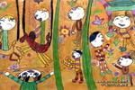 六一节好热闹儿童画作品欣赏