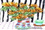 菊花儿童画作品欣赏