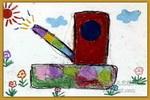 梦幻坦克儿童画