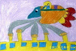 环保机儿童画