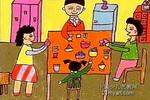 团聚儿童画图片