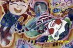 快乐音乐家儿童画