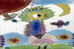 我想学大鸟飞行儿童画