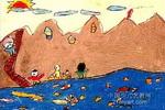 上山的路儿童画