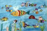 海底世界儿童画(六)8幅