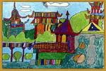 记忆中的公园儿童画