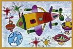 我的神舟火箭儿童画