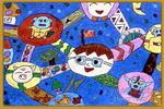 宇宙是我家儿童画