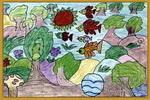 美丽森林儿童画