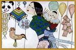 集市油画棒儿童画
