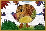 大花猪儿童画