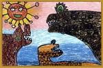 米蒙一家儿童画