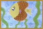 美丽的小兔油画棒儿童画