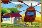 荷兰村儿童画