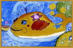 大鱼吐小船儿童画