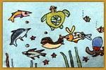海底世界真好玩儿童画