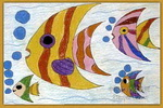 美丽的燕鱼儿童画