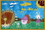 美丽的大森林儿童画2幅