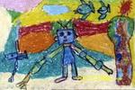 会扫地的机器人儿童画