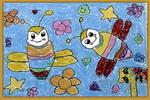 保护蜜蜂儿童画