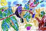 自然交响曲儿童画图片