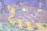 忙碌的家儿童画作品欣赏