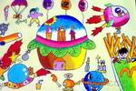 汉堡乐园儿童画图片