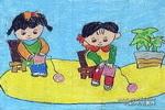 我有一双巧巧手儿童画图片